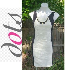 Dots white/back sleeveless cocktail dress …